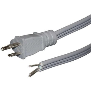 Petra Industries 6 ft. Flat Appliance Power Cord in Grey PPET150346ST