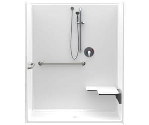 Aquatic Industries FreedomLine 60 x 34 in. Shower in White A1603CFSRWH