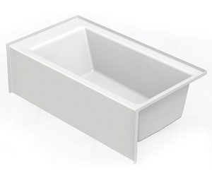 Aquatic Industries Everyday 60 x 36 x 18 in Soaker Alcove Bathtub with Left Drain in White A6036SMINLWH