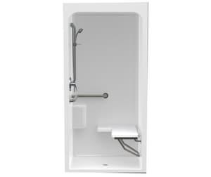 Aquatic Industries FreedomLine 36 x 36 in. ADA Shower in White A3636BFSL