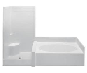 Aquatic Industries Darsey 102 x 43-1/4 in. Tub & Shower with Left Drain in White A102STA2PLWH
