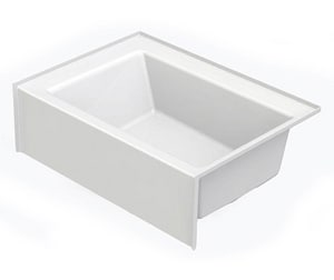 Aquatic Industries Everyday 60 x 42 x 18 in Soaker Alcove Bathtub with Left Drain in White A6042SMINLWH