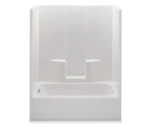 Aquatic Industries Everyday 60 x 36 x 77-3/4 in. Left-Hand Tub and Shower in White A6036SGWH