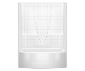 Everyday 79-1/4 x 60 x 60 in. Tub and Shower with Right Hand Drain in White A2603BSTMRWH