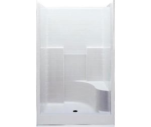 Aquatic Industries Everyday 34-7/8 x 48 x 76 in. Alcove Shower Unit in White A1483STTLWH