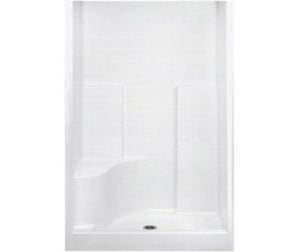 Everyday 77-1/4 x 48 in. Shower with Right Corner Seat in White A1483DTSMRWH