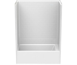 Aquatic Industries Everyday 60 x 33-1/4 in. Tub & Shower with Left Drain in White A6032STTLWH