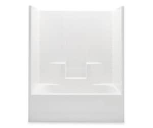 Aquatic Industries Everyday 60 in. Right-Hand Tile Tub and Shower in White A2603CTWRWH