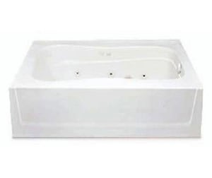 Aquatic Industries Everyday 60 x 42 x 17 in Soaker Alcove Bathtub with Left Drain in White A6042HLWH