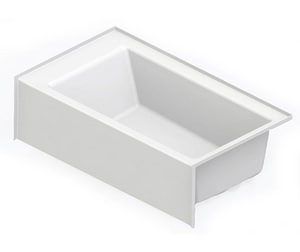 Aquatic Industries Everyday 60 x 36 x 18 in Soaker Alcove Bathtub with Right Drain in White A6636SMINRWH