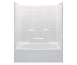 Aquatic Industries Everyday 60 x 42 in. Tub & Shower with Left Drain in White A2603CTSMLWH