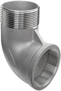 1-1/2 in. Threaded 150# 304 Stainless Steel Street 90 Degree Elbow IS4CTS9SP114J