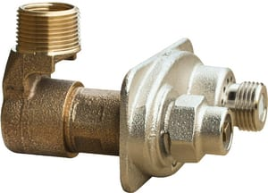 Prier Products Satin Nickel 1 x 3/4 in. MPT x FPT Wall Hydrant PC633NSV