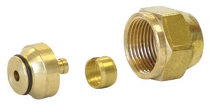 Uponor Quik Trak® 5/16 in. Quik Track Fitting Assembly R20 Thread UA4020313