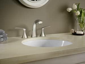 Moen Darcy™ Two Handle Widespread Bathroom Sink Faucet in Spot Resist Brushed Nickel MWS84551SRN