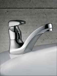 Moen M-Press Single Lever Handle Lavatory Faucet with Metering Handle in Polished Chrome M8884