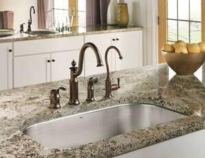 Moen Waterhill™ Single Handle Kitchen Faucet in Oil Rubbed Bronze MS711ORB