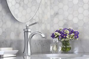 Moen Wynford™ Single Handle Monoblock Bathroom Sink Faucet in Polished Chrome MOE4500
