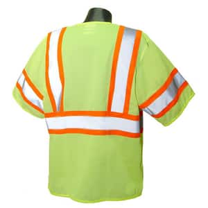Radians Economy Two Tone Mesh Safety Vest Class 3 Hi-Viz Green XL RSV223ZGM at Pollardwater