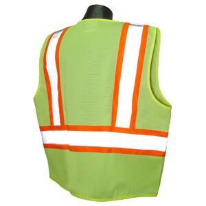 Radians L Size High-Visibility Mesh Safety Vest in Green RSV222ZGML