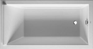 Duravit Starck 66-93/100 x 35-43/100 in. Soaker Drop-In Bathtub with Reversible Drain in White Alpin D700337000000090