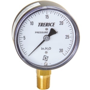 H.O. Trerice 760B Series 2-1/2 x 1/4 in. 15 psi Lower Mount Utility Pressure Gauge in Black T760B2502LX650