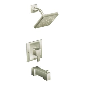 Moen 90 Degree™ Single Handle Single Function Bathtub & Shower Faucet in Brushed Nickel Trim Only MTS2713EPBN