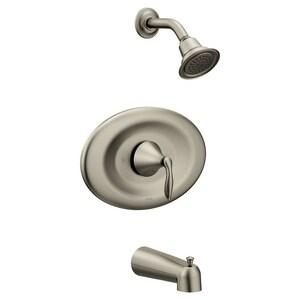 Moen Eva™ Single Handle Single Function Bathtub & Shower Faucet in Brushed Nickel (Trim Only) MT2137EPBN