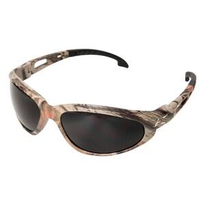 Edge Eyewear Dakura Safety Glasses with Camouflage Frame & Smoke Lens WSW116CF