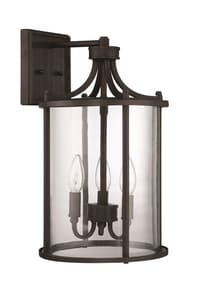 Craftmade International Carlton 60W Wall Mount Large Outdoor Wall Sconce in Aged Bronze Brushed CZ2824ABZ