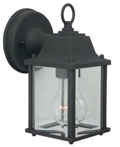 Craftmade International Coach Lights 4-1/4 in. 100 W 1-Light Medium Lantern in Matte Black CZ192TB