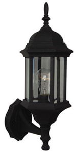Craftmade International Hex Style 100W 1-Light Medium E-26 Incandescent Outdoor Wall Sconce in Textured Matte Black CZ290TB