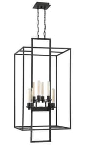 Craftmade International Cubic 60W 8-Light Foyer Pendant in Aged Bronze Brushed C41538ABZ
