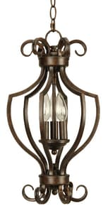 Craftmade International Cecilia 60W 3-Light Foyer Fixture in Peruvian Bronze C7110PR3