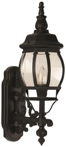 Craftmade International French Style 1-Light Small Wall Mount Sconce in Matte Black CZ320TB