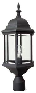 Craftmade International Hex Style 100 W 1-Light Medium Cast Aluminum Post Lantern in Matte Black CZ695TB