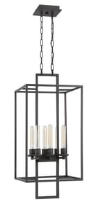 Craftmade International Cubic 60W 6-Light Foyer Pendant in Aged Bronze Brushed C41536ABZ