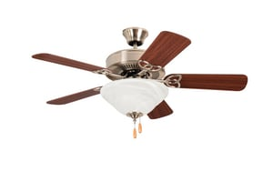 Craftmade International Builder Deluxe 42 in. 5-Blade Ceiling Fan with Light Kit in Brushed Polished Nickel CBLD42BNK5C1