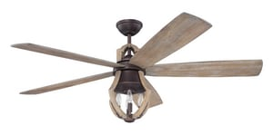 Craftmade International Winton 56 in. Ceiling Fan with Blades and Light in Aged Bronze Brushed and Weathered Pine CWIN56ABZWP5