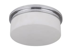 Craftmade International Albany 9-87/100 in 26W 2-Light Compact Fluorescent GU24 Flush Mount Ceiling Fixture in Polished Chrome C39782CHNRG