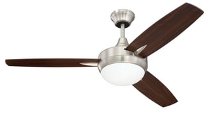 Craftmade International Targas 52.47W 3-Blade Ceiling Fan with 48 in. Blade Span in Brushed Polished Nickel CTG48BNK3