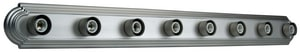 Racetrack Brushed Nickel 8 100 Watts Medium Strip Light C11048BN8