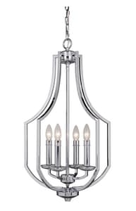 Craftmade International Hayden 60W 4-Light Foyer Fixture in Polished Chrome C40034CH