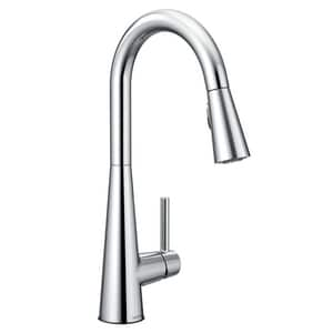 Moen Sleek™ Single Handle Pull Down Kitchen Faucet in Polished Chrome M7864