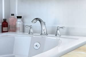 Moen Caldwell™ Two Handle Roman Tub Faucet in Polished Chrome Trim Only M86440