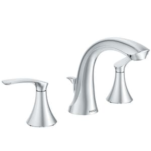 Moen Darcy™ Two Handle Widespread Bathroom Sink Faucet in Polished Chrome MWS84551