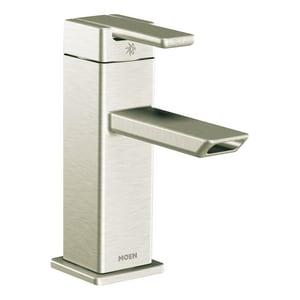 Moen 90 Degree™ Single Handle Centerset Bathroom Sink Faucet in Brushed Nickel MS6701BN
