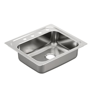 Moen 2000 Series 22 x 25 in. 1 Bowl Kitchen Sink in Brushed Satin Stainless MG201964Q
