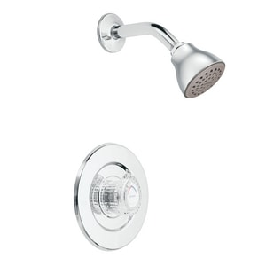 Moen Chateau® 1.75 gpm 80 psi Tub and Shower Only with Single Lever Handle in Polished Chrome MT473EP