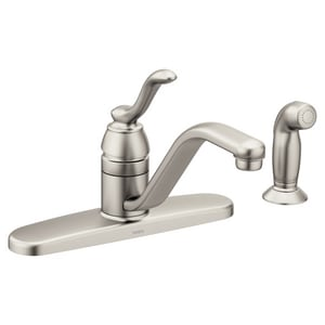 Moen Banbury™ Single Handle Kitchen Faucet in Spot Resist Stainless M7051SRS